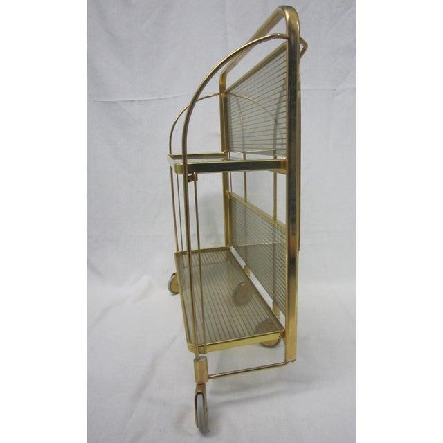 Image of Gold Tone Folding Bar Cart