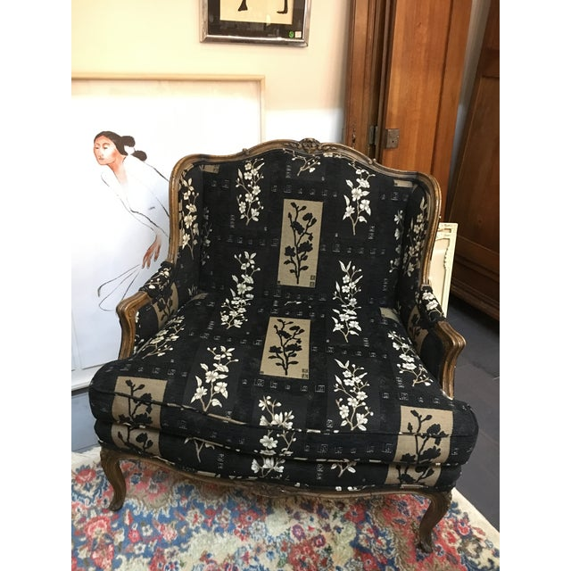Oversized Black Ornate Chair - Image 2 of 4
