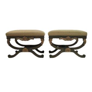 French X Base Stools - A Pair