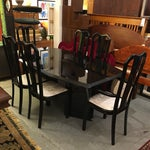 Image of Black Lacquered Dining Set