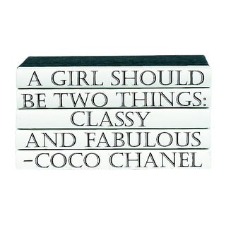 Coco Chanel Quote Book Stack - 5