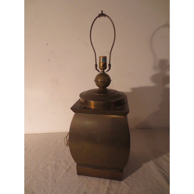 Vintage 60s Pair of Brass Table Lamps - Image 3 of 6