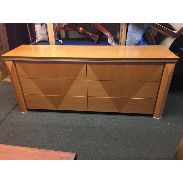 Giorgio Collection Parquet Dresser with Mirror - Image 2 of 10