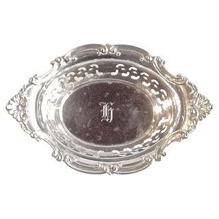Vintage Sterling Silver Pierced Nut Dish