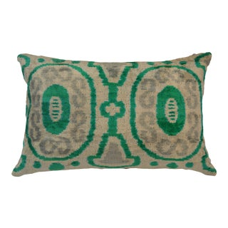 Marly Silk Velvet Ikat Pillow