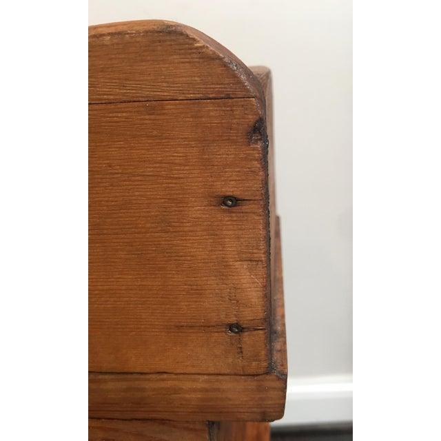 Antique Country Pine Slant Top Children's School Desk - Image 9 of 11