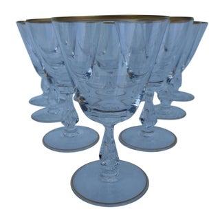 Fostoria Wine/Sherry Gold Rim Glasses - Set of 10