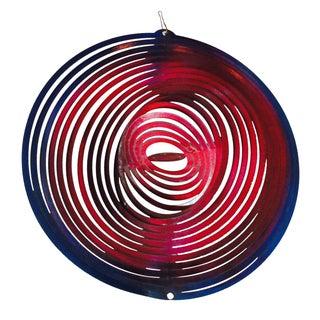 Modernist Op Art Metal Concentric Rings Hanging Mobile