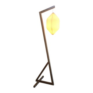 Contemporary Floor Lamp with Paper Shade
