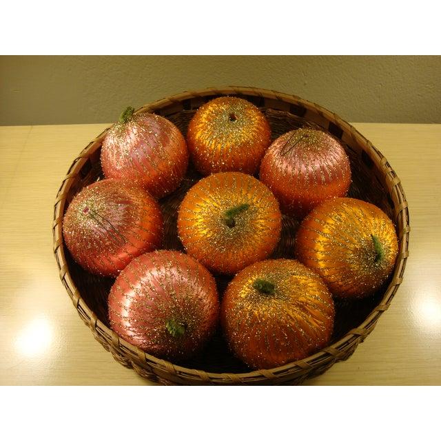 Vintage Spun Satin Ornaments in Antique Baskets - Image 3 of 8