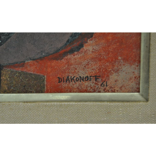 Serge Diakonoff Abstract Mixed Media Painting - Image 3 of 5
