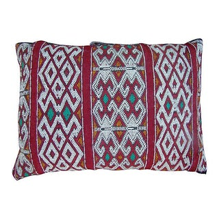 Moroccan Ornate Striped Berber Pillow