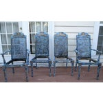 Image of Hand Painted French Provincial Gold Gilt Antique Dining Chairs - Set of 4