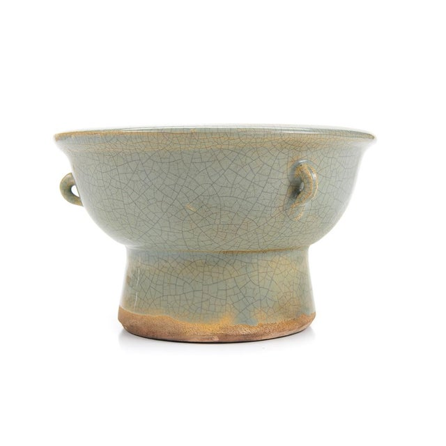 Chinese Antique Crackled Green Celadon Bowl - Image 6 of 9