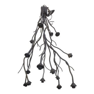 Modern Metal Tree Branch Chandelier
