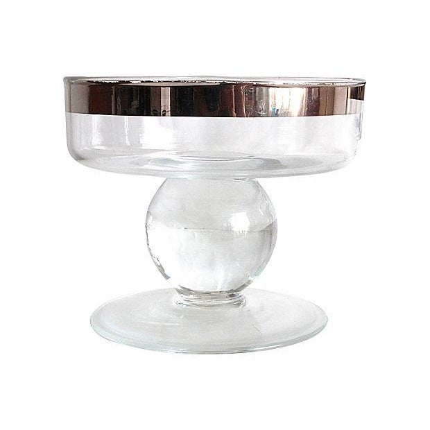 Silver Rimmed Footed Bowls - Pair - Image 3 of 3
