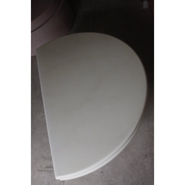 Image of White Swivel Expandable Coffee Table