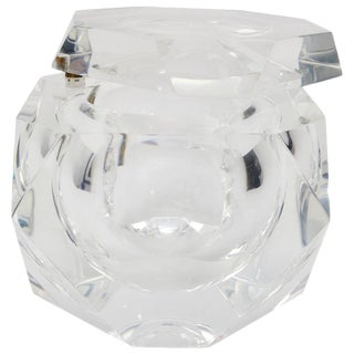 Alessandro Albrizzi Lucite Ice Bucket in Clear Lucite