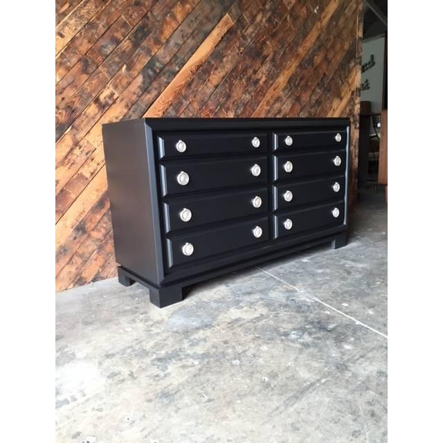 Image of Mid-Century Black Lacquer Dresser