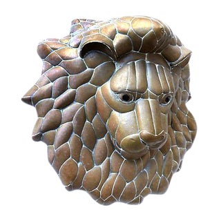 Sergio Bustamante Lion Wall Sculpture