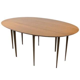 Dunbar Bleached Walnut Drop-Leaf Gateleg Table