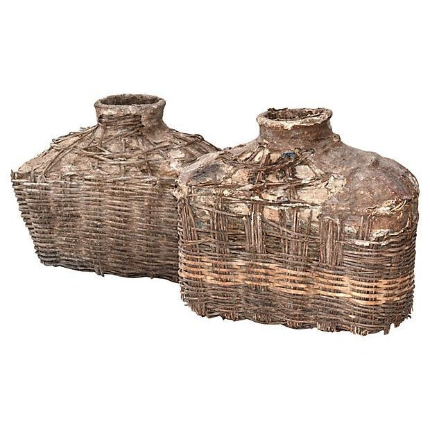 Antique Chinese Large Fishing Basket - A Pair - Image 5 of 5