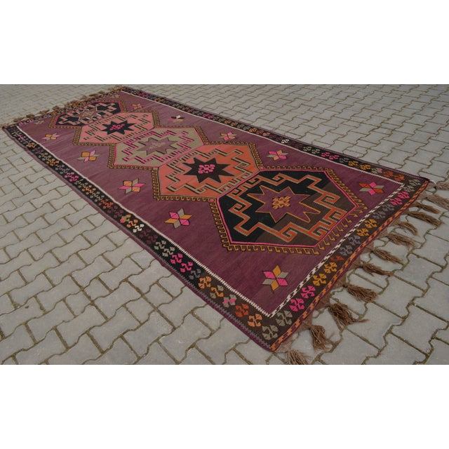 Hand-Woven Turkish Runner - 5′6″ × 13′2″ - Image 2 of 10