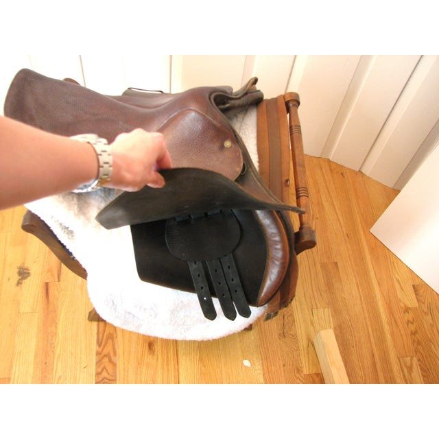 "Crosby Millers 16.5"" Brown Leather Horse Saddle - Image 7 of 8"
