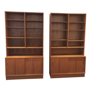 Poul Hundevad Teak Wall Units - A Pair
