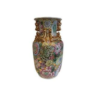 Chinese Foo Dog Gilt Vase