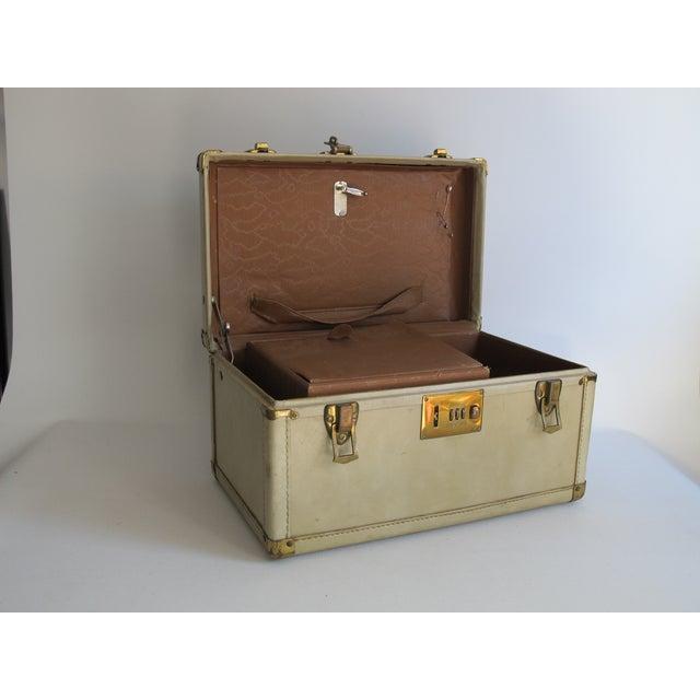 Cream Leather Train Case - Image 6 of 6