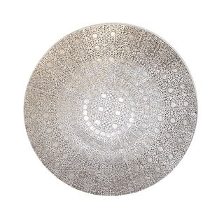 Large Silver Filigree Wall Medallion