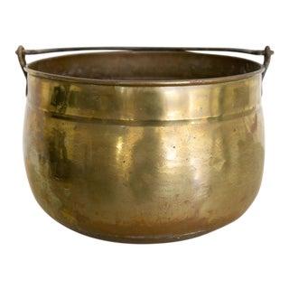 Vintage Patinated Brass Bucket