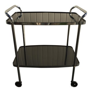 Vintage Cosco Black & Chrome Bar Cart