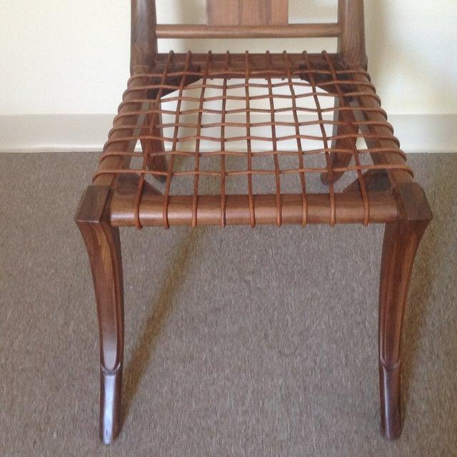 Modern Klismos Chair: Mid-Century Modern Walnut Klismos Style Chair