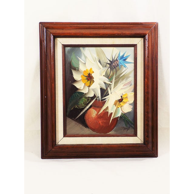 Image of Original Oil Painting Still Life Floral