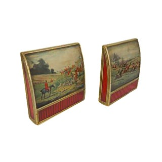 Vintage Borghese Florentine Gold Gilded Bookends - A Pair