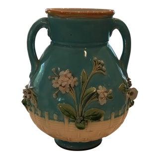 Blue Minton Majolica Vase