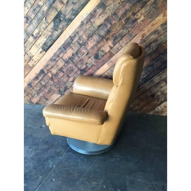 Vintage Milo Baughman Style Leather Chair - Image 4 of 6