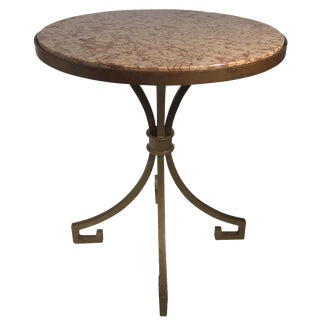Gilded Iron & Marble Side Table