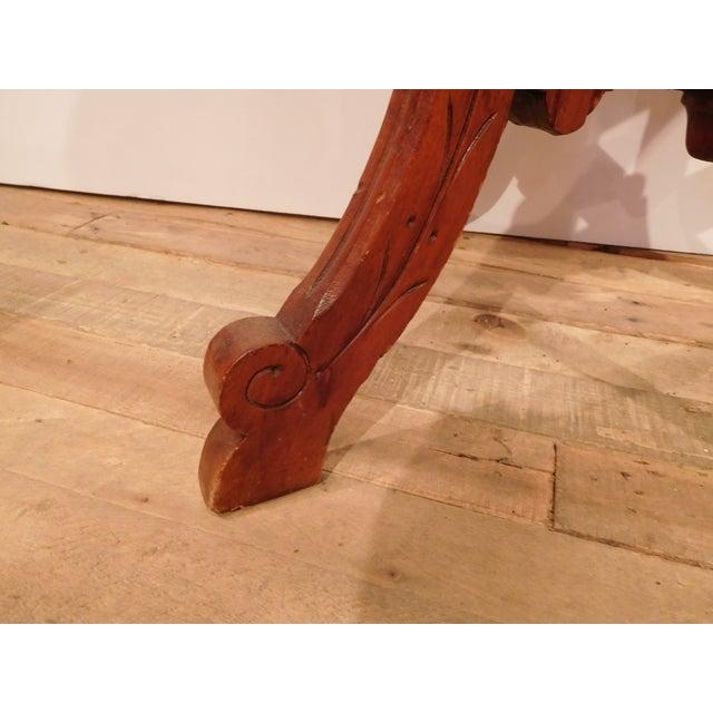 Image of Vintage Wood Craftsman Edwardian Style Side Table
