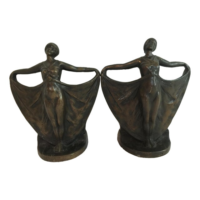 Antique Art Deco Cast Iron Bookends - A Pair - Image 1 of 6