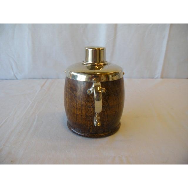 Antique English Oak Tea Caddy - Image 3 of 4