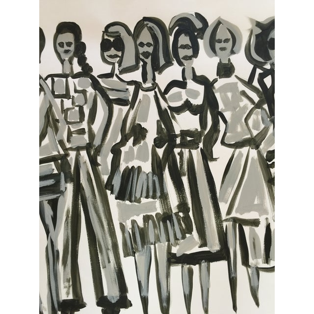 Original Fashion Illustration on Paper - Image 3 of 4