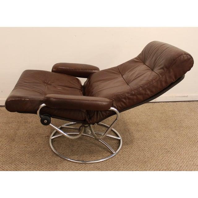 Ekornes Stressless Mid Century Danish Modern Leather