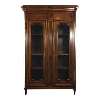 Carved Wood Display Cabinet