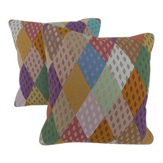 Diamond Patchwork Pillows - A Pair