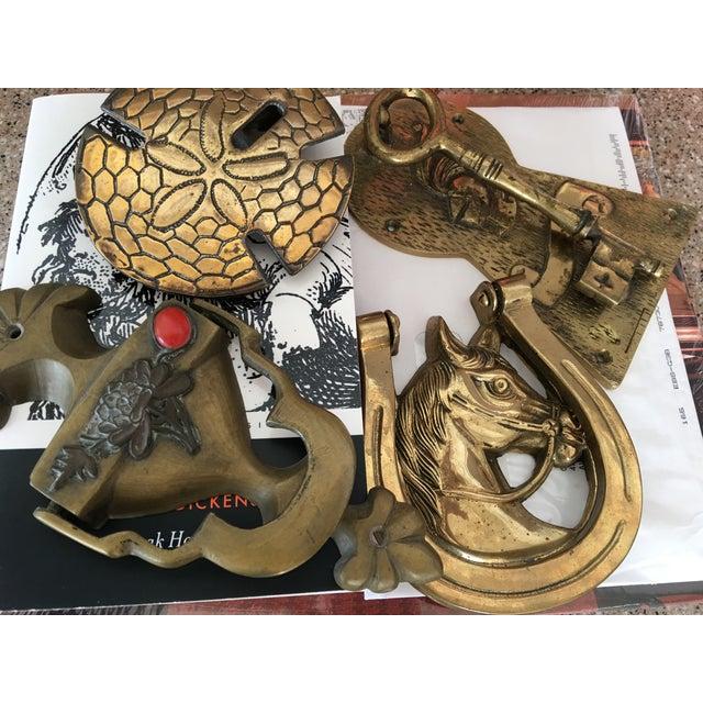 Image of Brass Skeleton Key Door Knocker