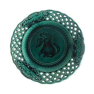 Green Majolica Pear Wall Plate
