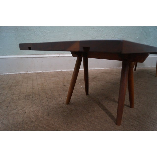 Long Low Coffee Table: Studio Made Solid Walnut Long Low Table/Bench